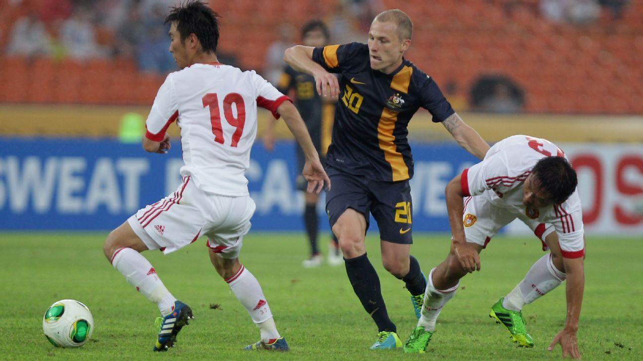 Australian midfielder Aaron Mooy