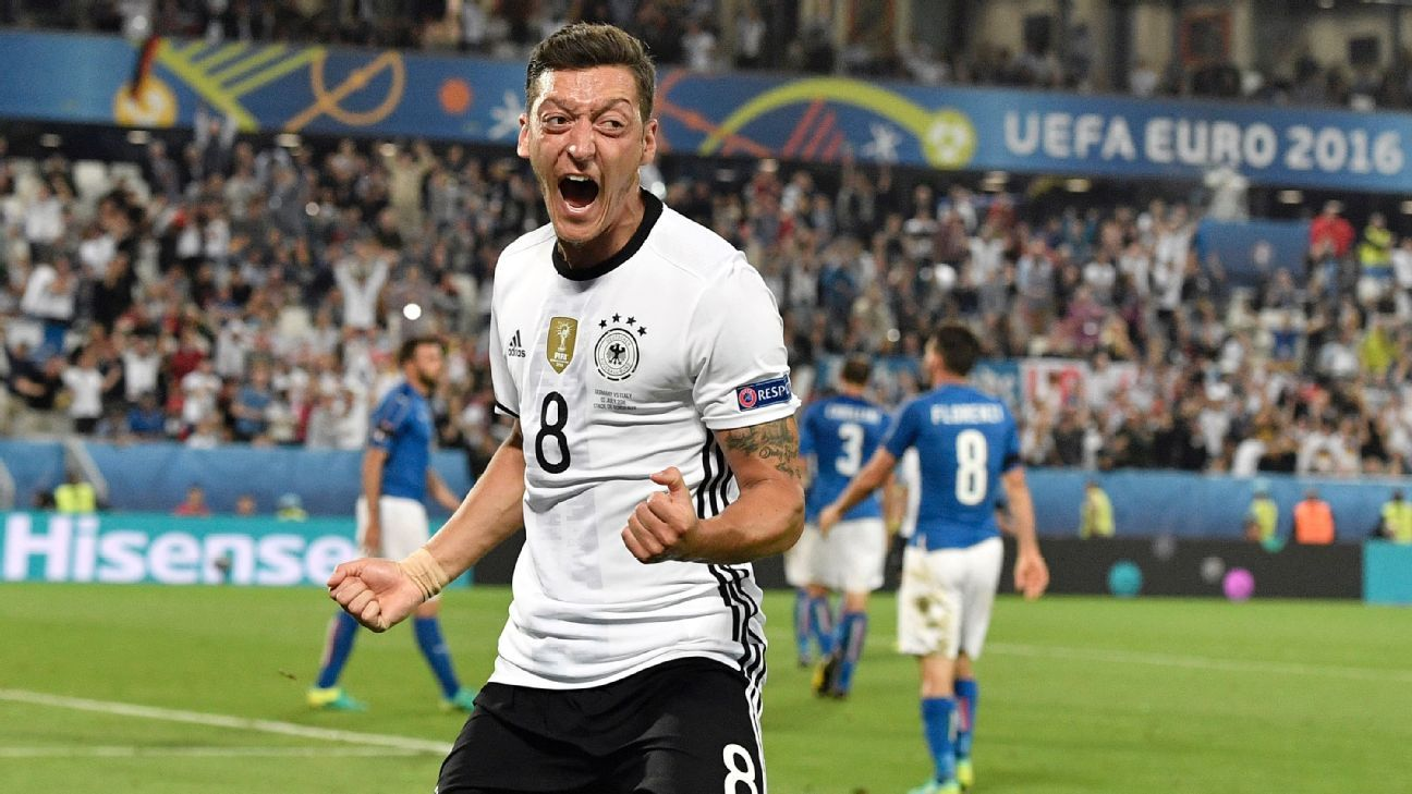 Mesut Ozil gave Germany the lead in the second half.