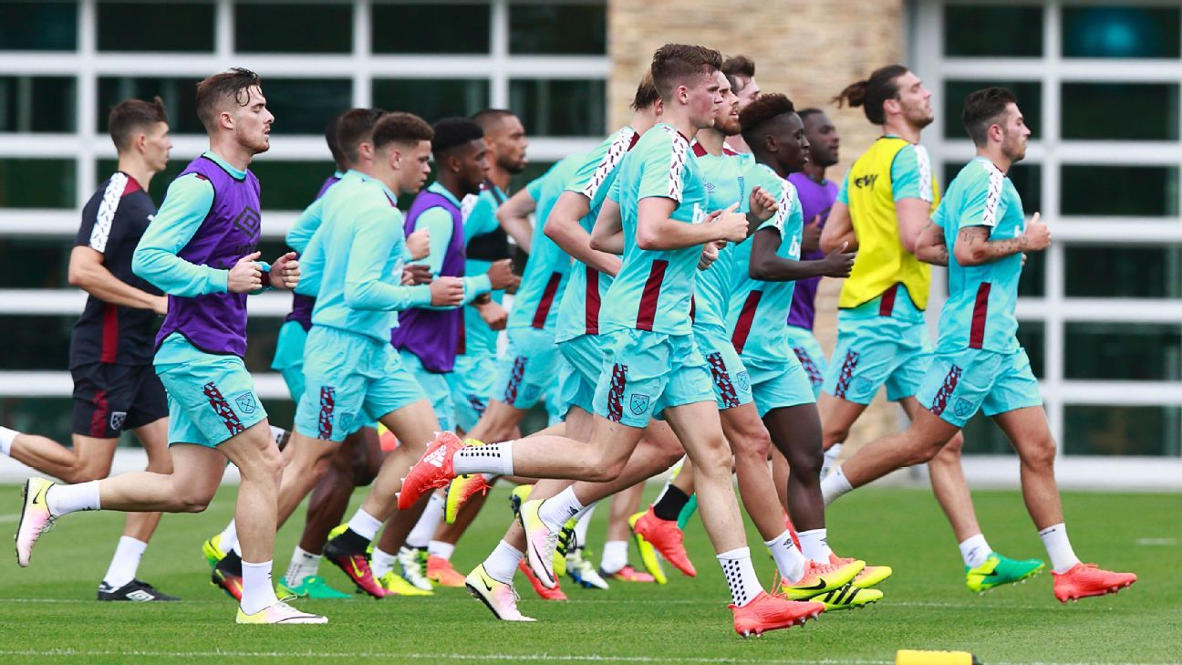West Ham training