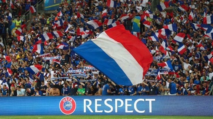 UEFA Euro 2016 sign, France fans