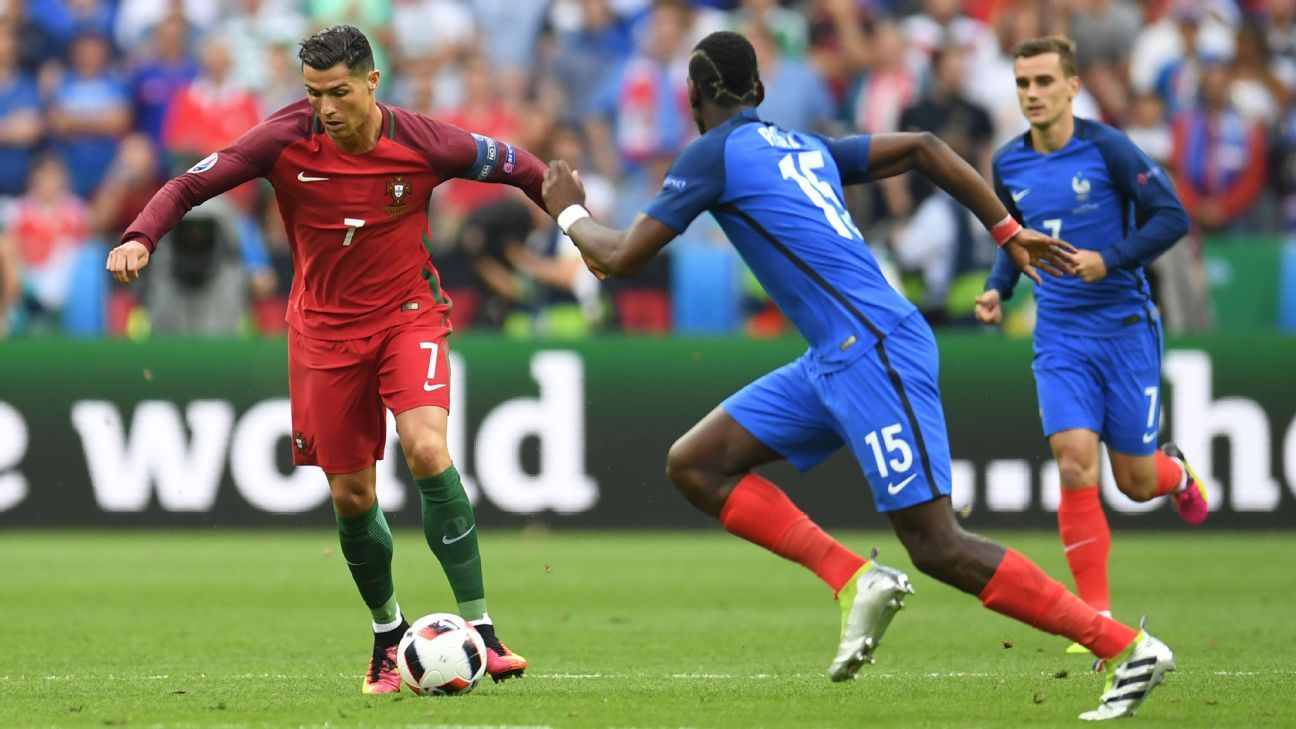 Cristiano Ronaldo and Paul Pogba