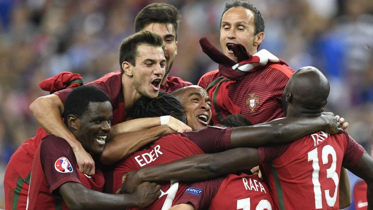 How does Portugal, which claimed the Euro 2016 title, project to fare in 2020?