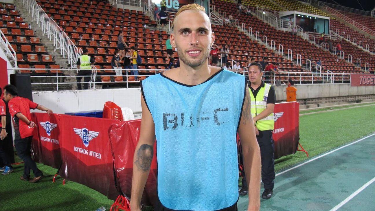 Bangkok United striker Mario Gjurovski