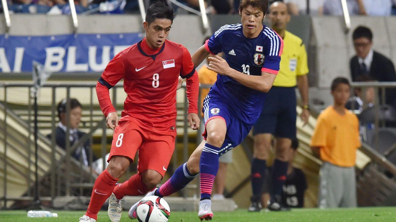 Singapore midfielder Hafiz Sujad