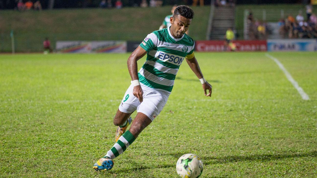 Geylang midfielder Faritz Hameed