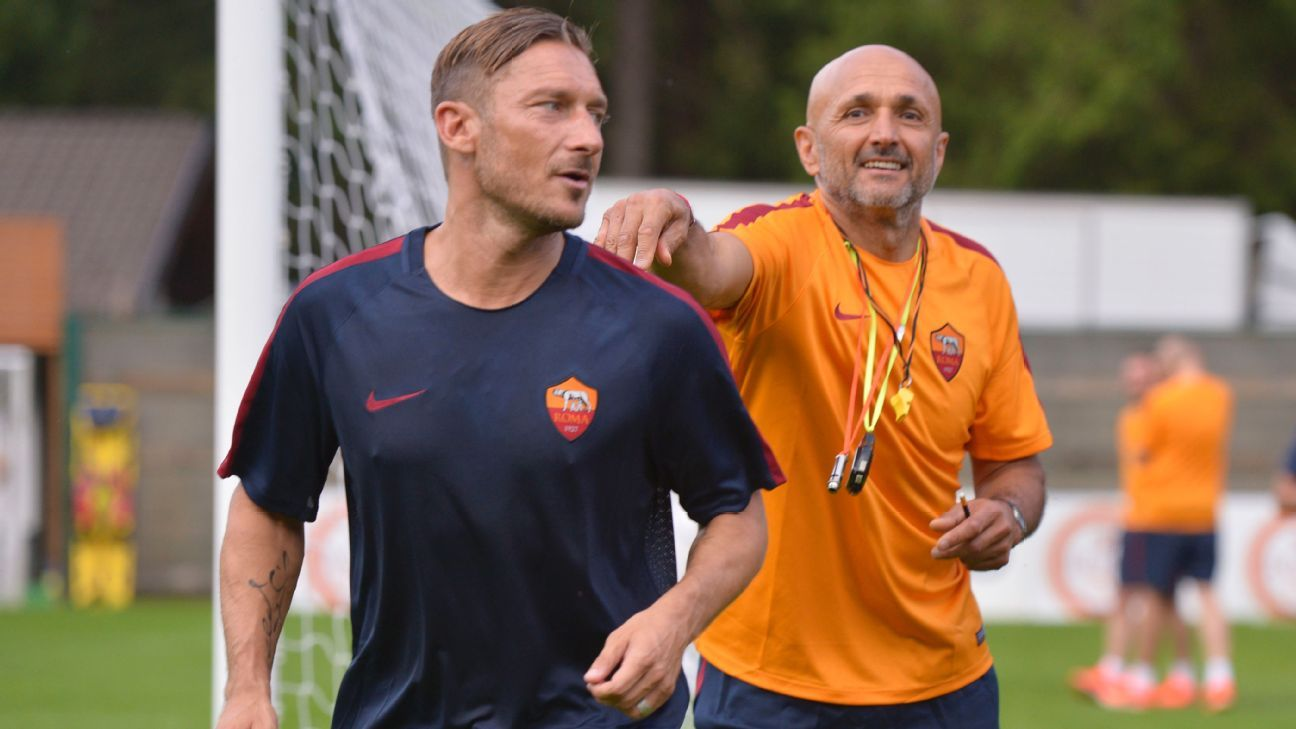Luciano Spalletti and Francesco Totti