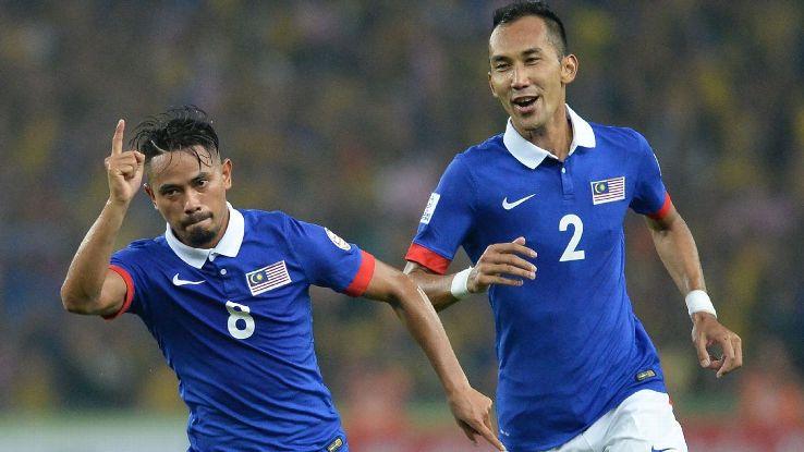 Safiq Rahim celebrates goal vs. Thailand