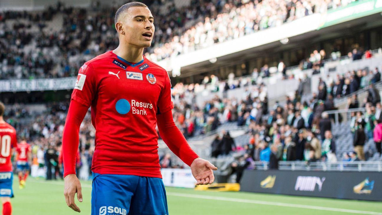 Jordan Larsson of Helsingborg