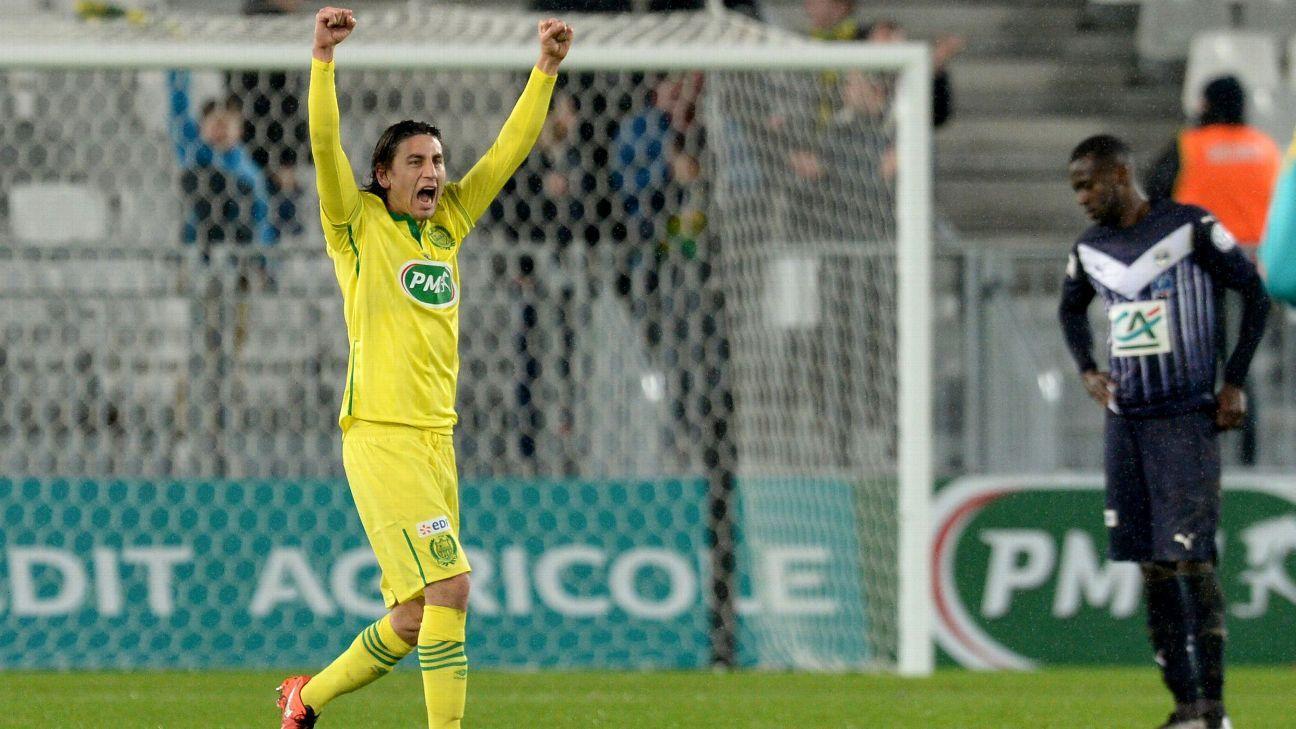Alejandro Bedoya with Nantes