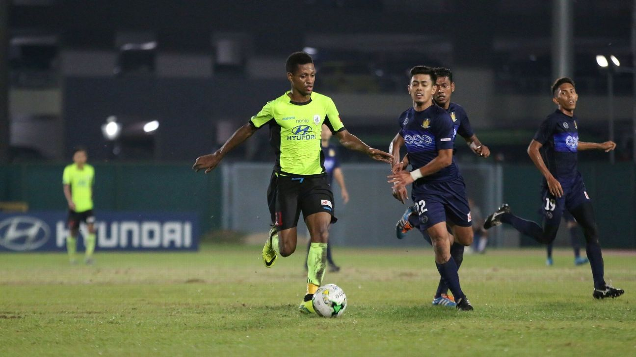Tampines forward Jordan Webb
