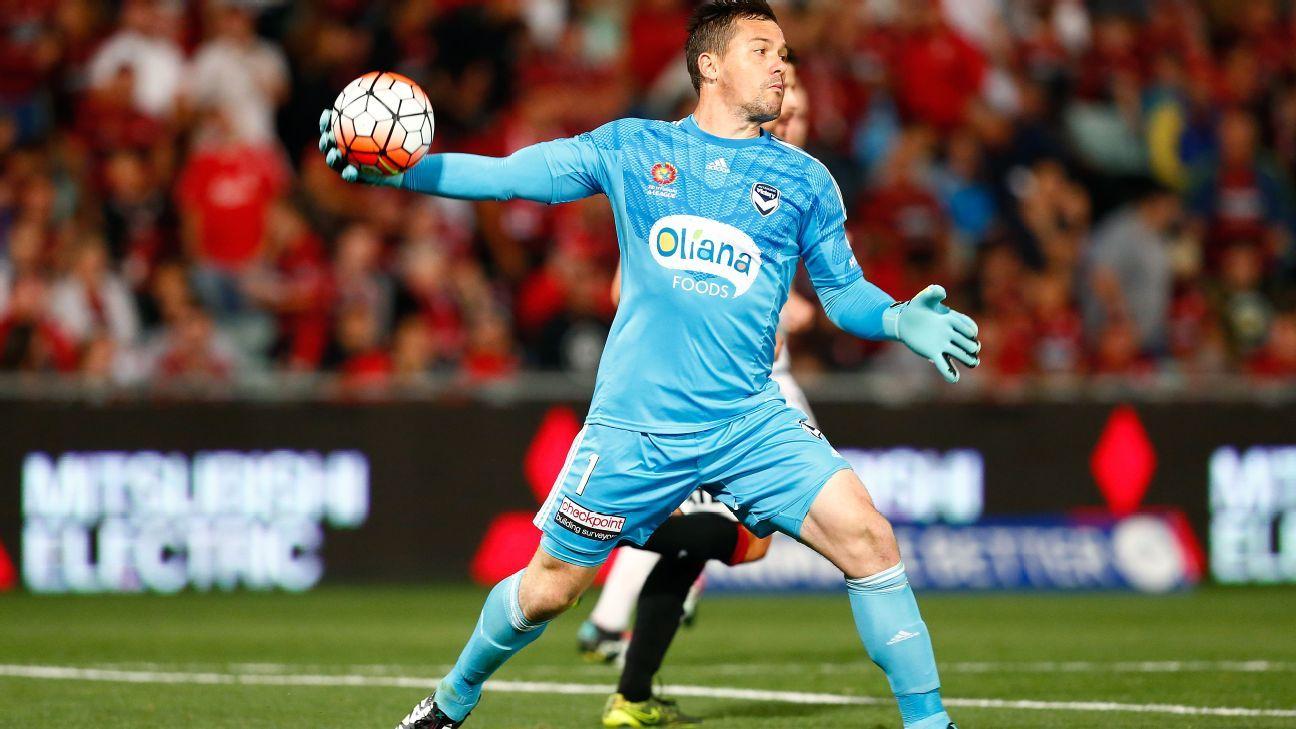Melbourne Victory goalkeeper Daniel Vukovic
