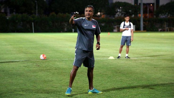 Singapore coach V. Sundramoorthy