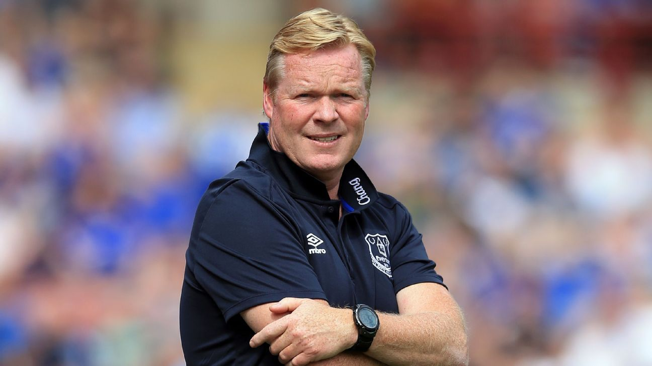 Ronald Koeman Everton preseason game