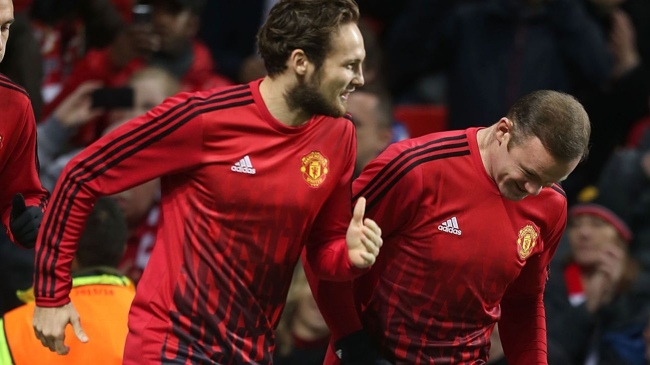 Daley Blind and Wayne Rooney