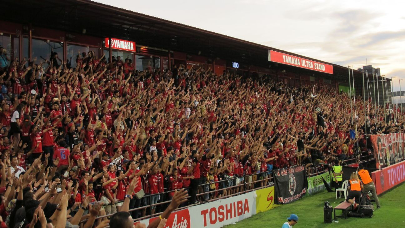 Muang Thong fans in Thailand