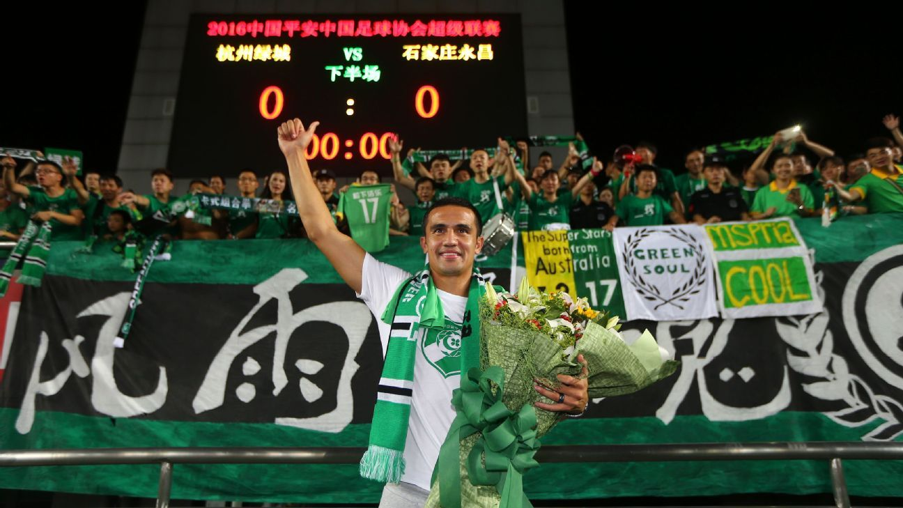 Hangzhou Greentown striker Tim Cahill