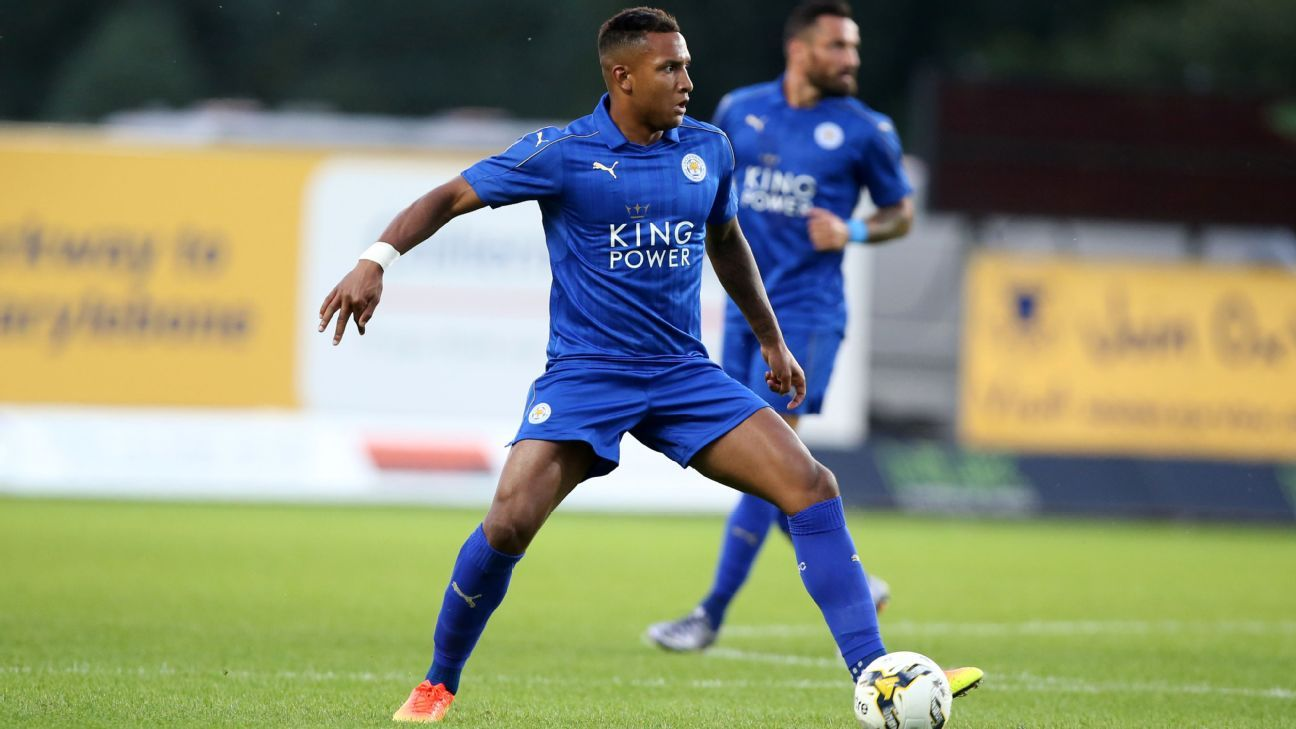 Liam Moore of Leicester City during the pre season friendly between Oxford United and Leicester City at Kassam Stadium on July 19 , 2016 in Oxford, United Kingdom.