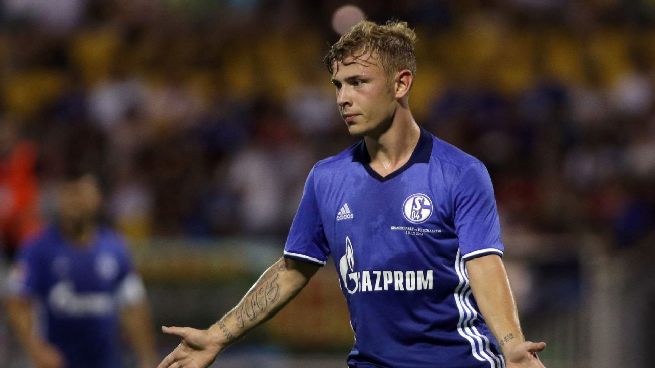 Max Meyer of FC Schalke 04 in action during the China-Germany International Football Challenge match between FC Schalke 04 and Guangzhou R&F.