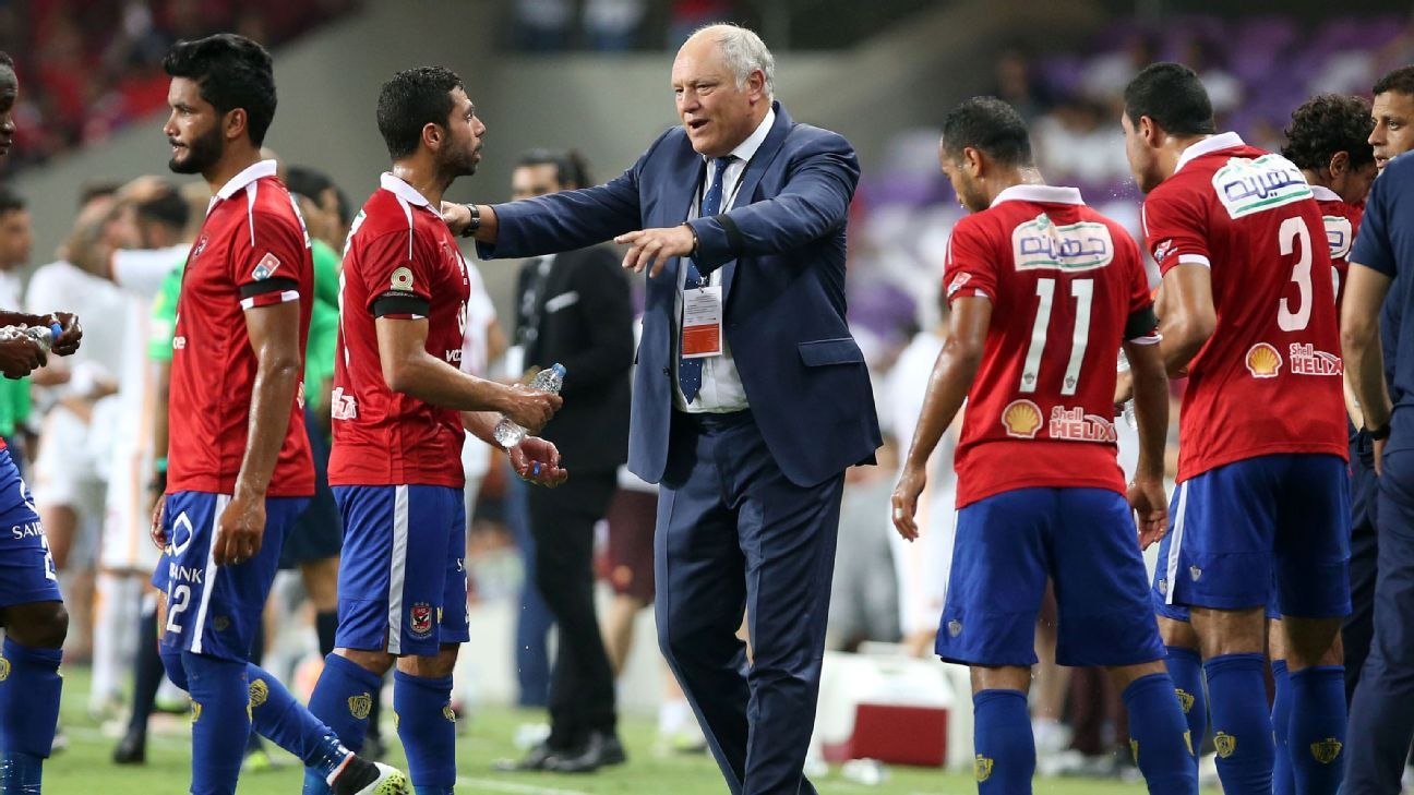 Martin Jol with Al Ahly