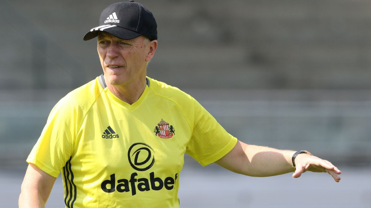David Moyes Sunderland training