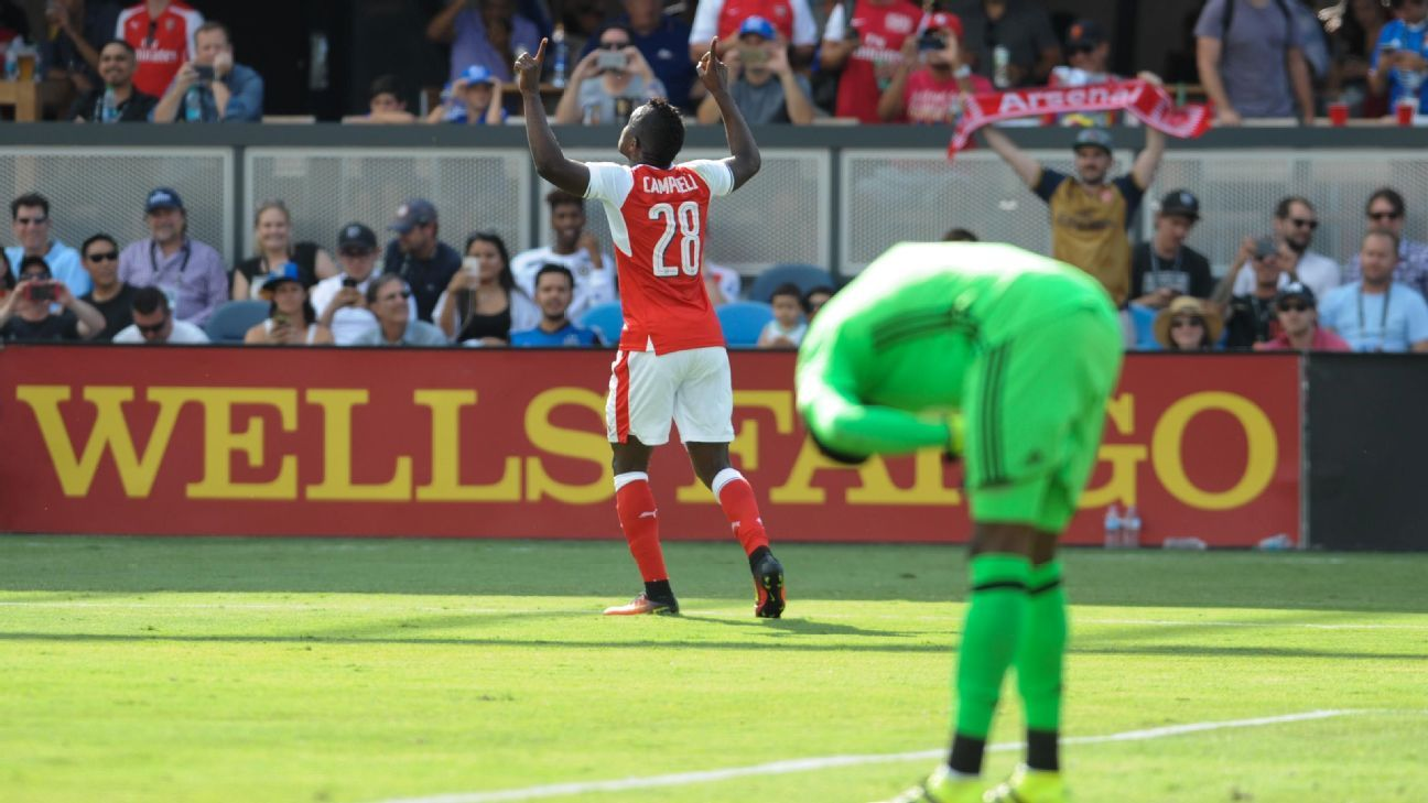 Joel Campbell and Arsenal triumphed at the MLS All-Star Game on Thursday.