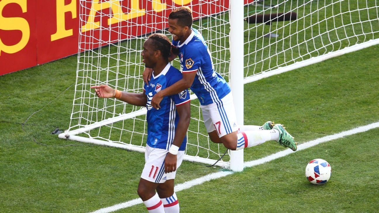 Didier Drogba and Giovani Dos Santos