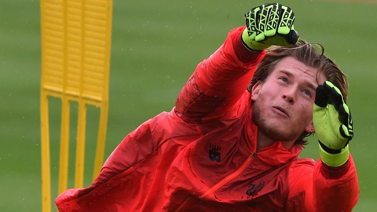 Loris Karius Liverpool training
