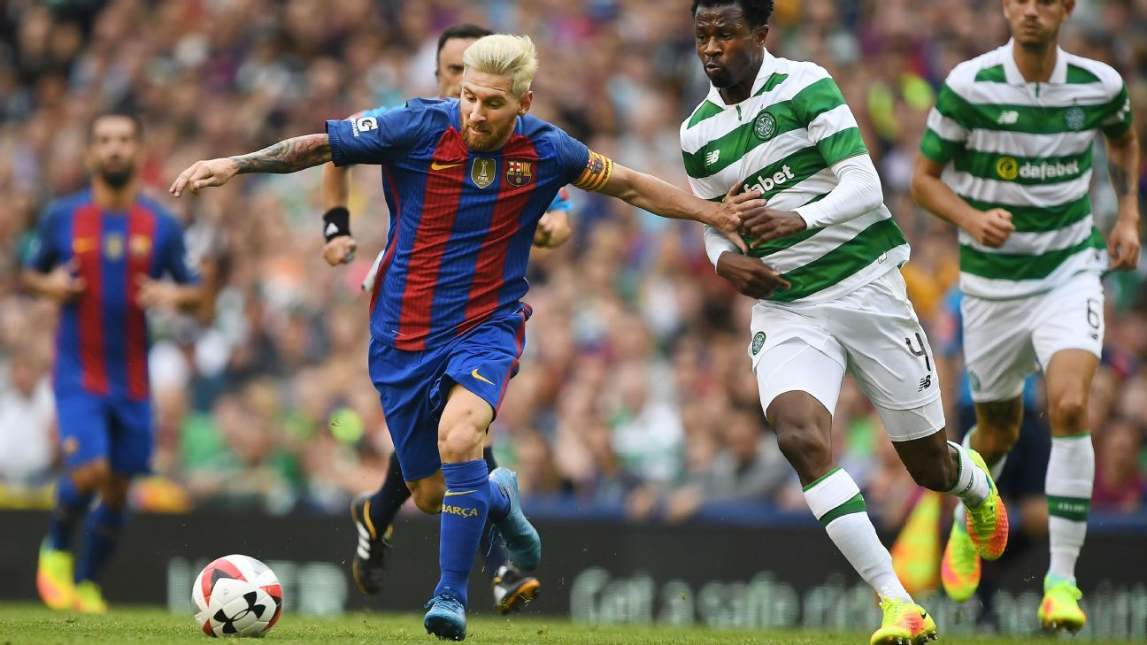Lionel Messi was included in the Barcelona starting XI against Celtic.