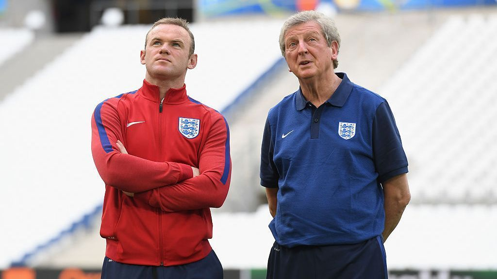 Wayne Rooney and Roy Hodgson