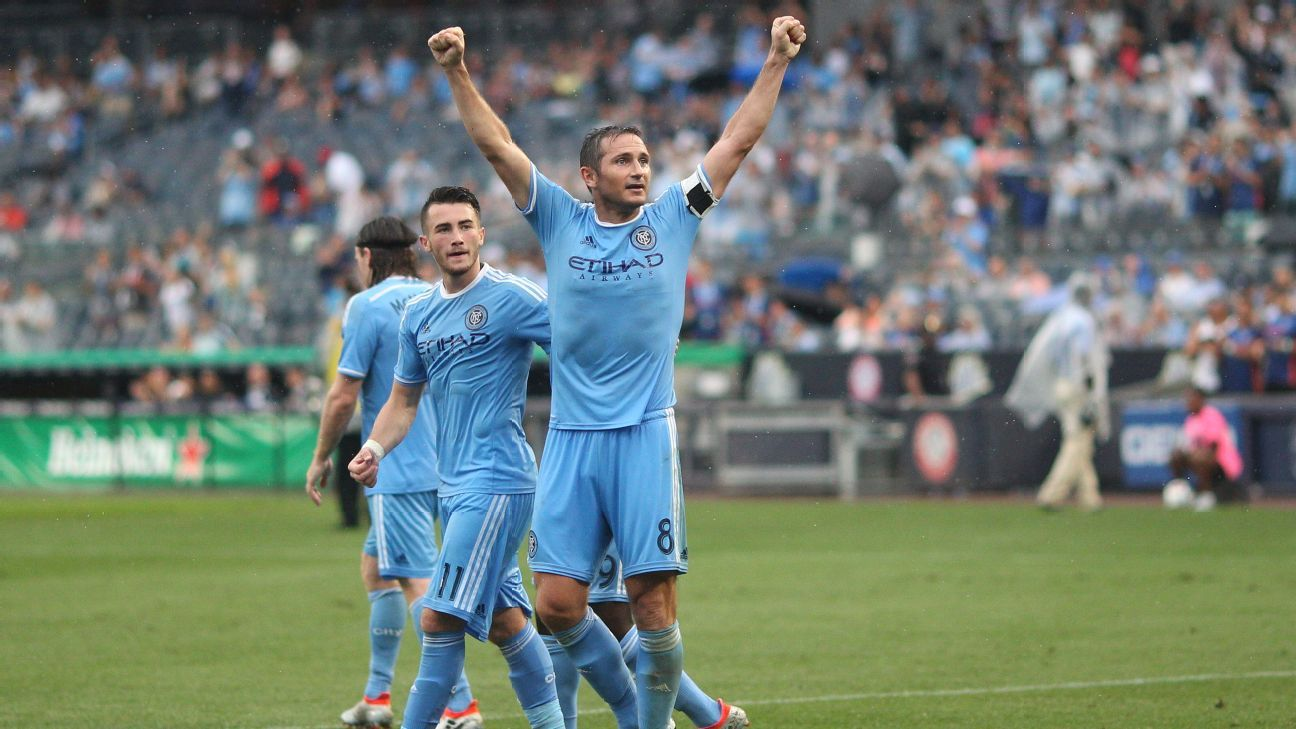 New York City FC midfielder Frank Lampard