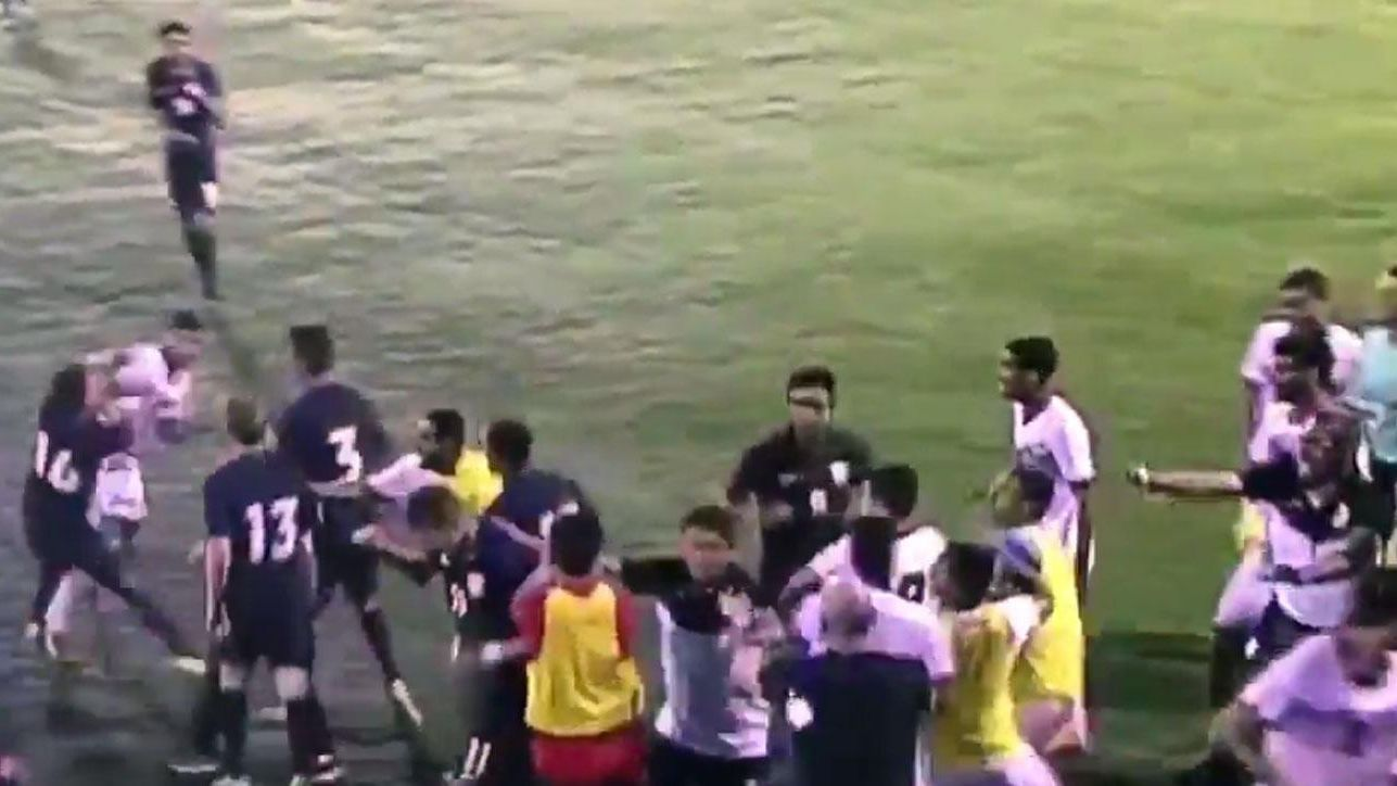 United States and Bahrain U19s fight