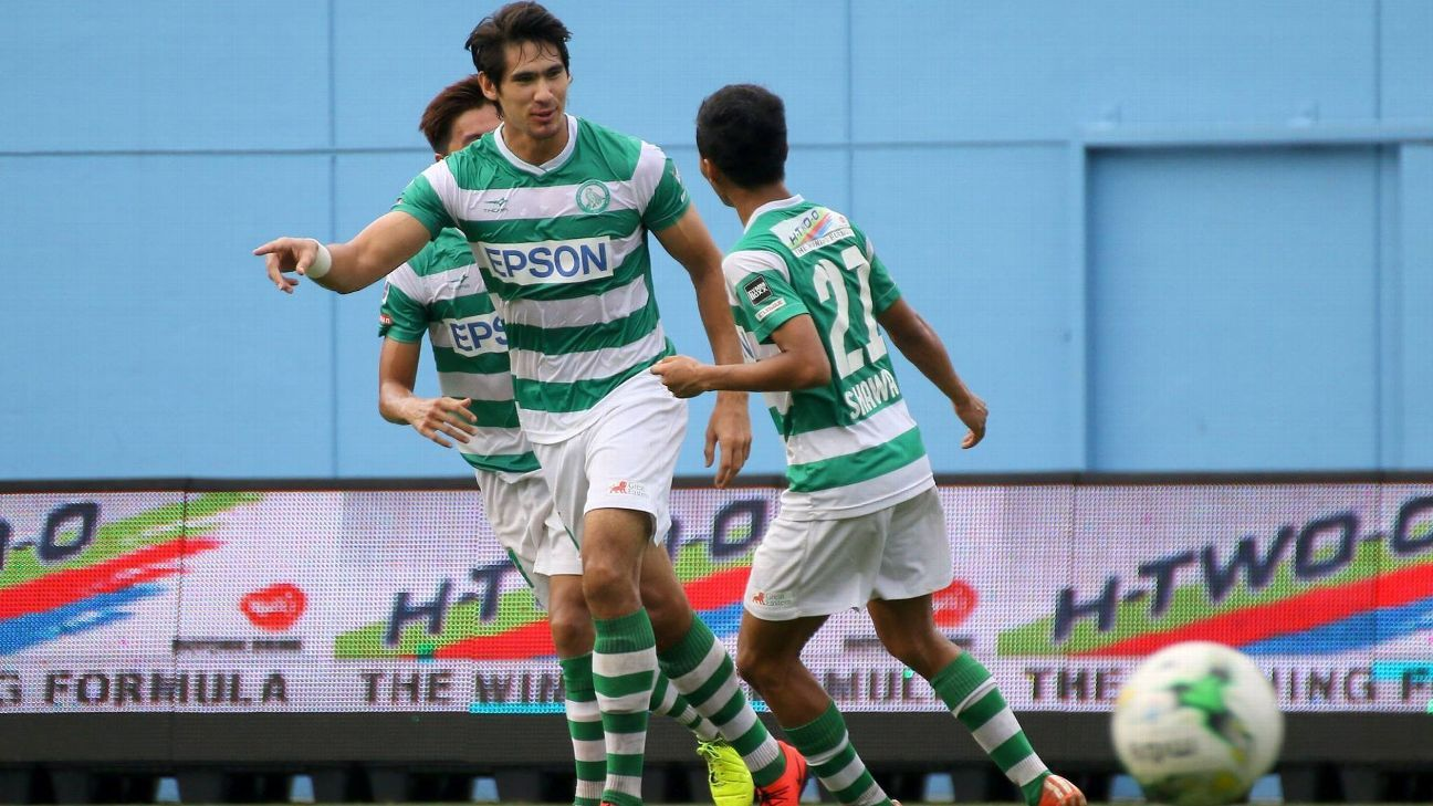 Geylang striker Mark Hartmann