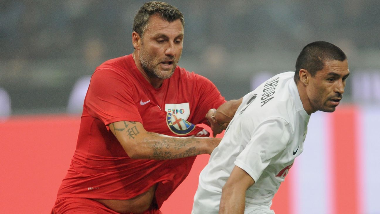 Christian Vieri in 2015 exhibition match