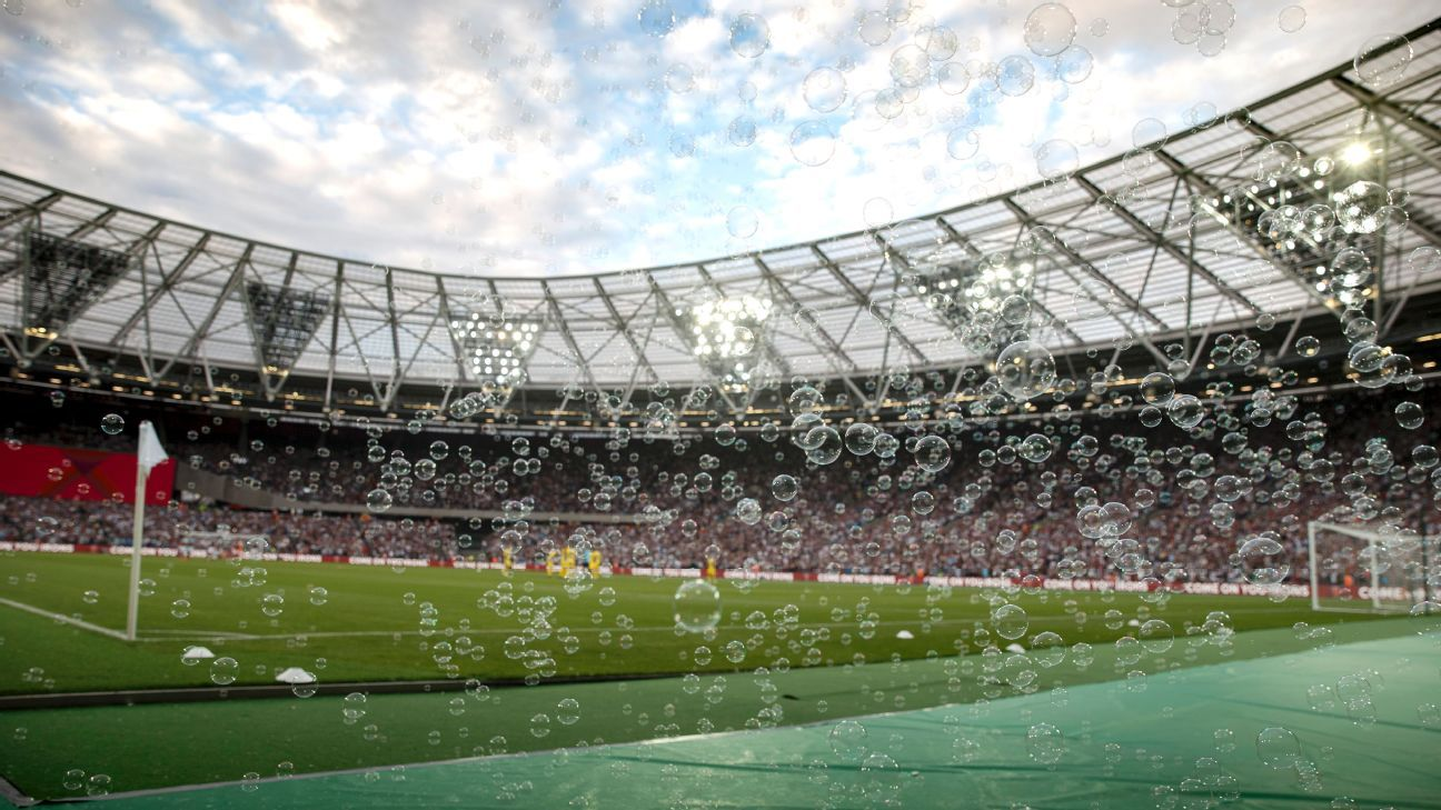 Bubbles at London Stadium