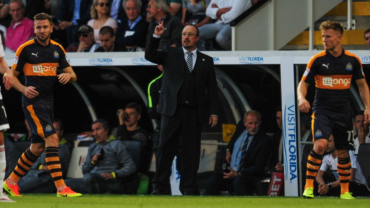 Rafa Benitez and Newcastle suffered a season-opening defeat to Fulham.
