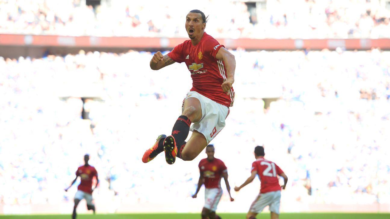 Ibra Jaringkan Gol Kemenangan Manchester United