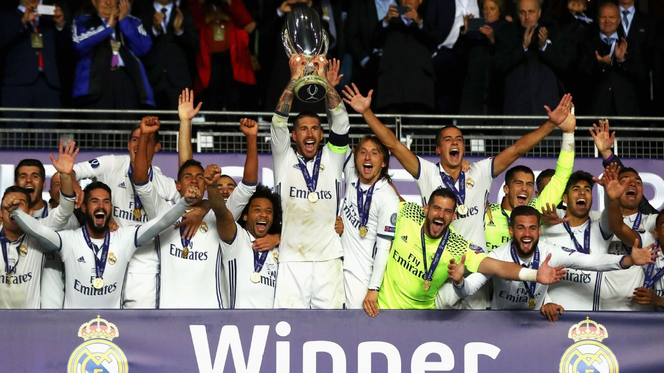 Real Madrid lift UEFA Super Cup