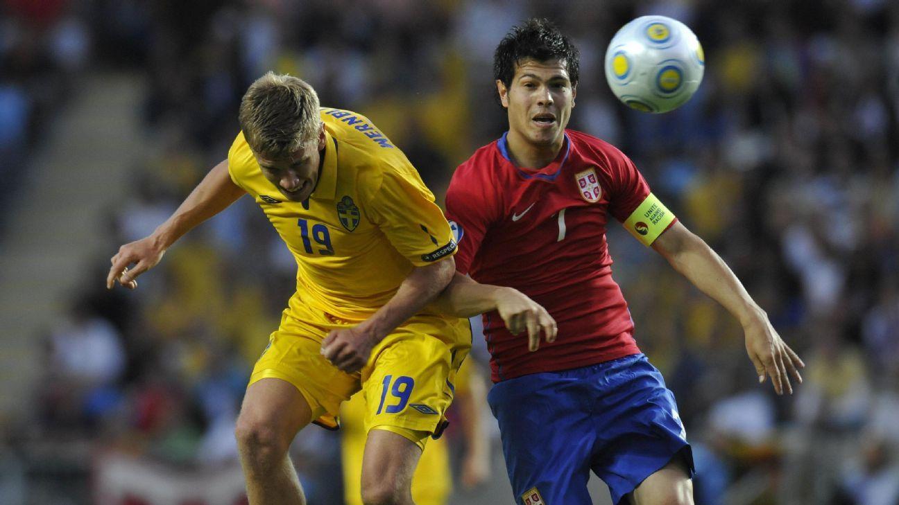 Serbian midfielder Milan Smiljanic