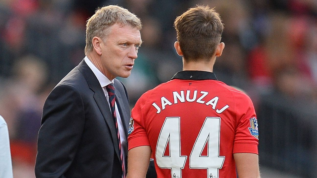 David Moyes and Adnan Januzaj