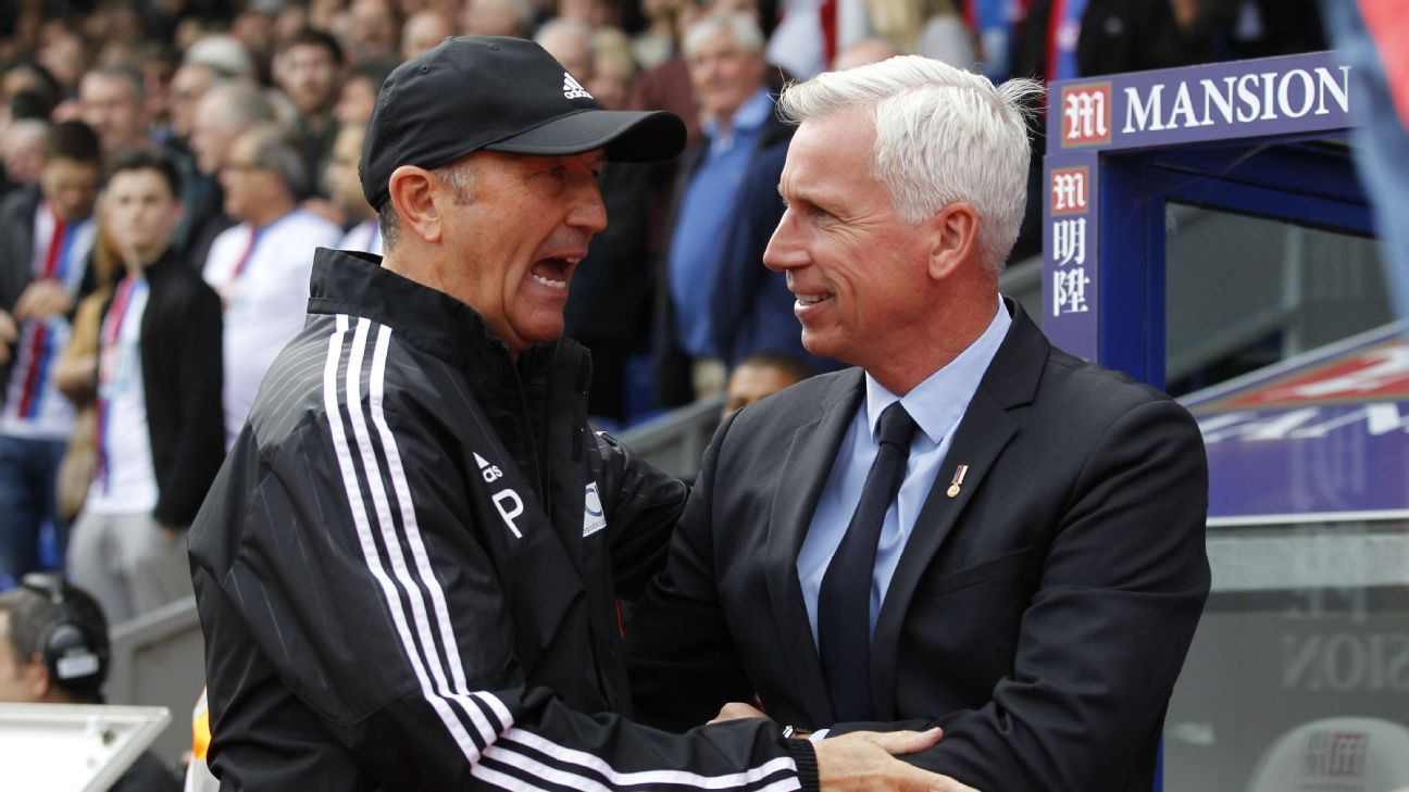 Tony Pulis and Alan Pardew.