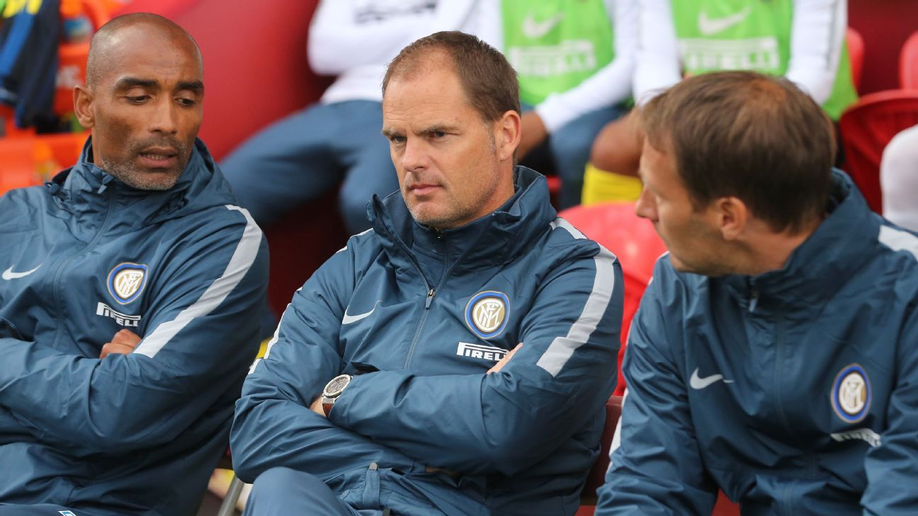 Frank de Boer watched Inter defeat Celtic in Ireland on Saturday.