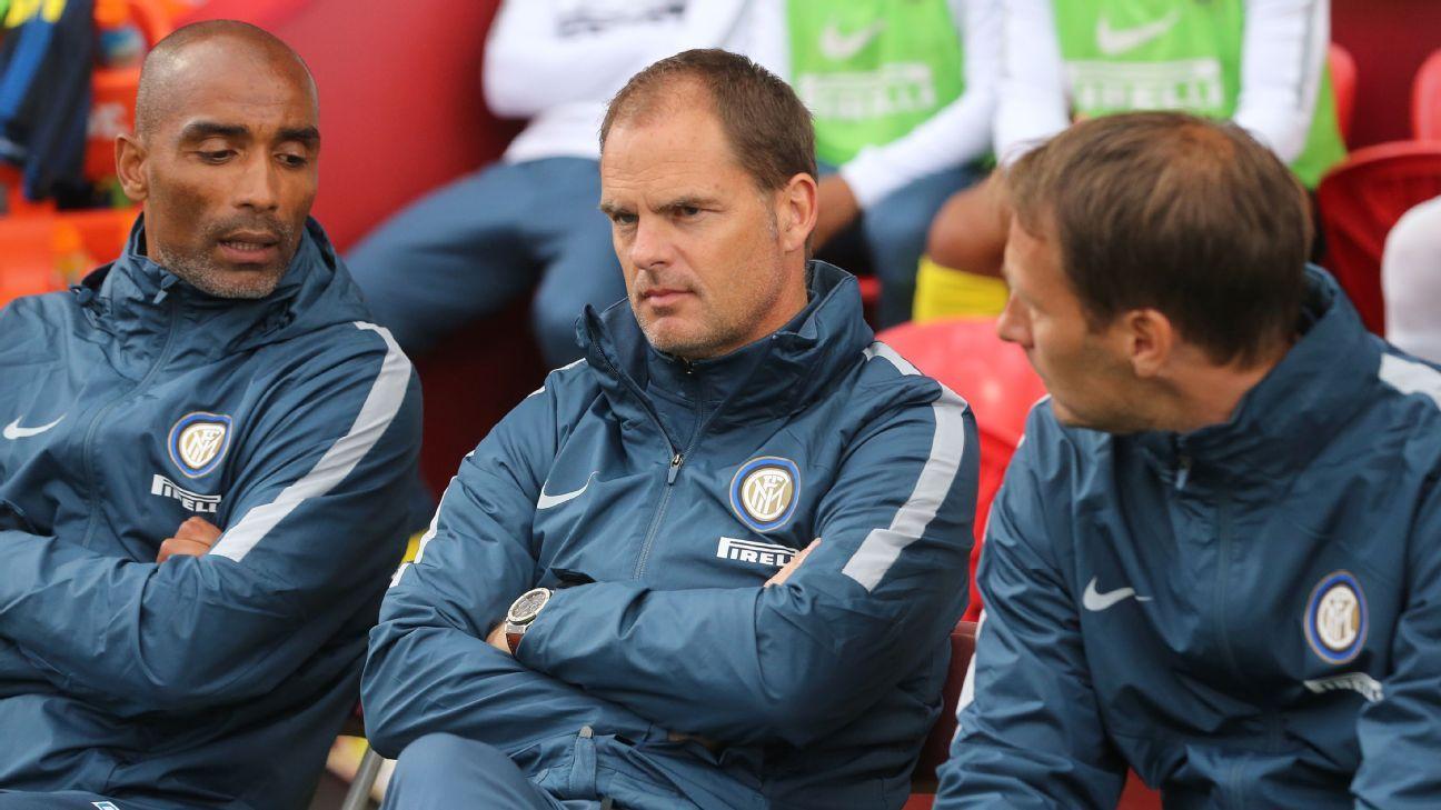Frank de Boer watched Inter defeat Celtic in Ireland on Saturday.
