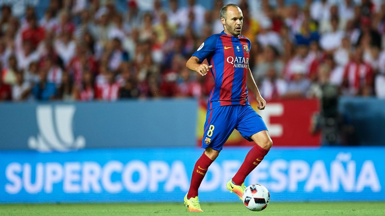 Barcelona midfielder Andres Iniesta