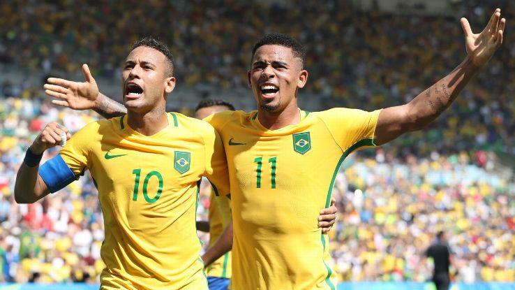 Neymar and Gabriel Jesus starred in Brazil's heavy semifinal defeat of Honduras on Wednesday.