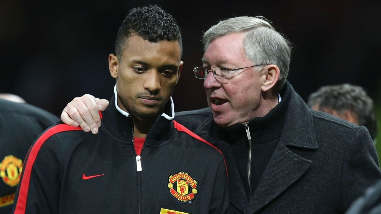 Nani and Alex Ferguson aka Fergie
