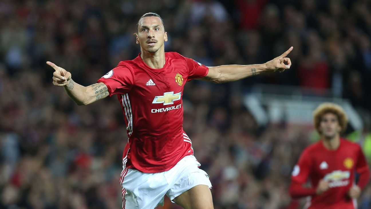 Zlatan Ibrahimovic scored twice in a straightforward win against Southampton.