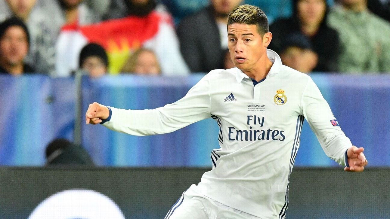 Chelsea negotiating James Rodriguez 70m departure from Real Madrid - ESPN FC