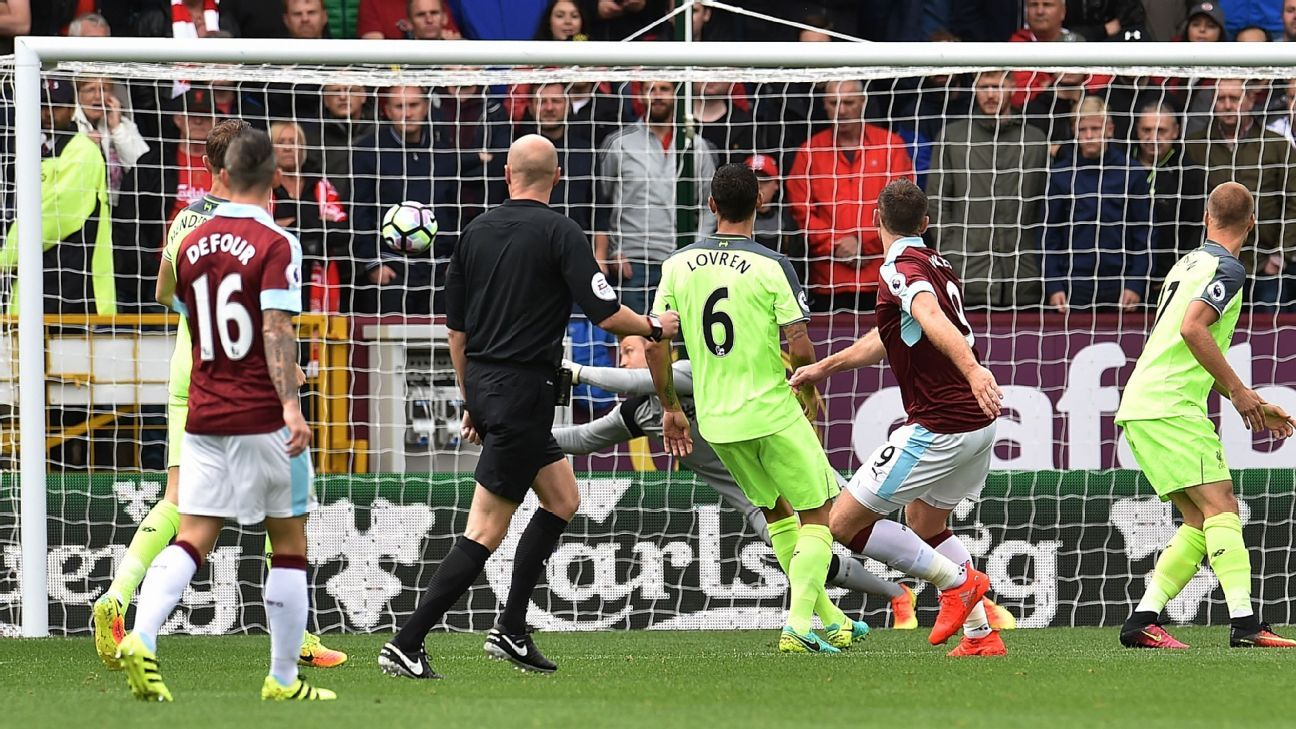 Sam Vokes broke the deadlock for Burnley early on against Liverpool.