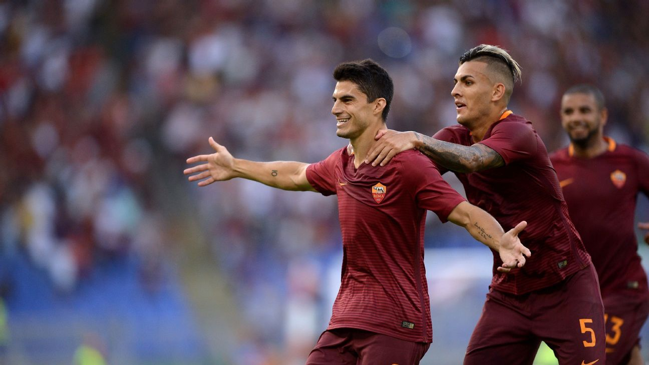 Diego Perotti scored a brace as Roma overcame Udinese.