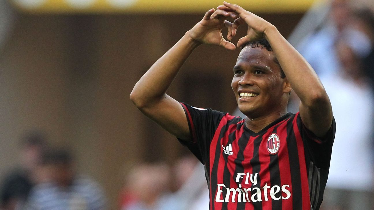 AC Milan's Carlos Bacca scored three times in his side's 3-2 defeat of Torino.